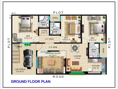 GROUND FLOOR PLAN (160 SYD)
