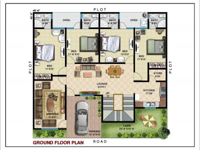 GROUND FLOOR PLAN (240 SYD)